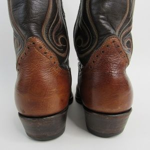 Hondo Boots Shoes - Hondo Boots Genuine Leather Cowboy Western Boots